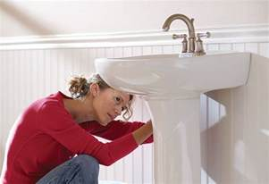 Replacing A Faucet On A Pedestal Sink by How To Install A Pedestal Sink At The Home Depot