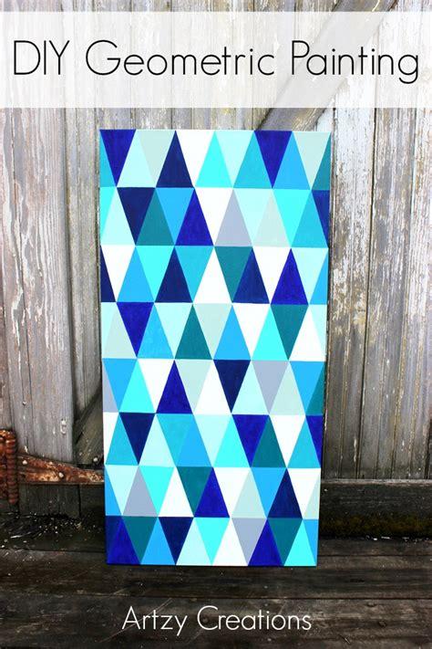 diy geometric painting artzycreationscom