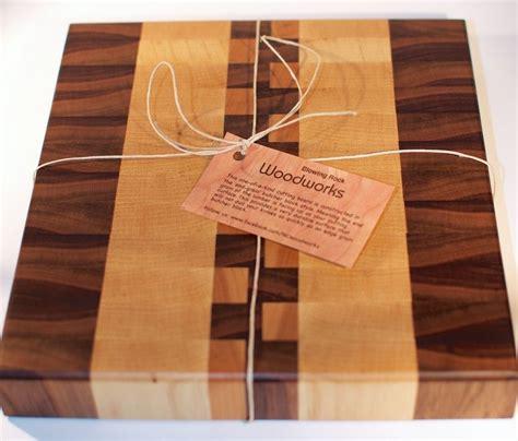 butcher block cutting board plans handmade walnut maple and cherry end grain wood cutting