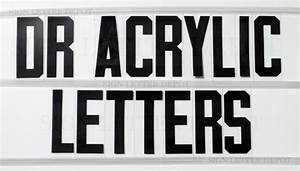 8quot on 9 inch dr acrylic letters for portable signs With sign letter depot