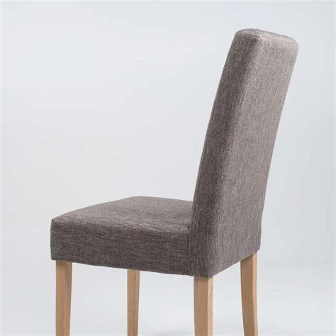 chaise de sejour chaise de salle à manger en tissu et bois massif gaby