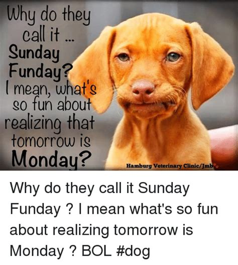 Why Do They Call It Sunday Un I Mean What's Go Fun About