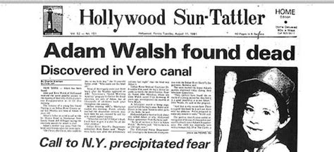 Few Questions About Adam Walsh Unresolvedmysteries