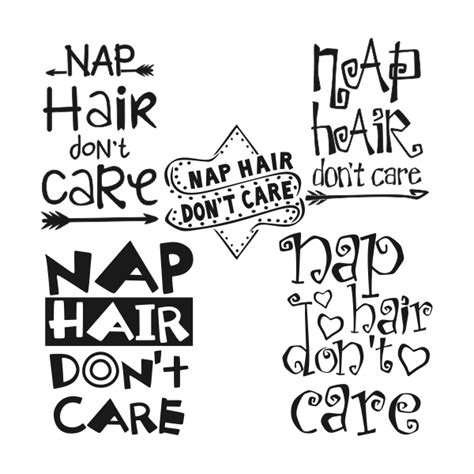 nap hair  dont care svg cuttable designs