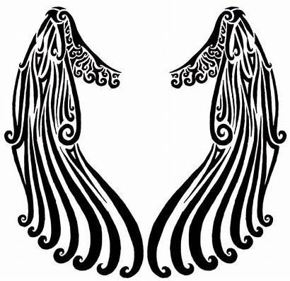 Wings Angel Tribal Simple Tattoo Wing Drawing