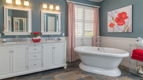 high   wainscot  bathroom wall angies list