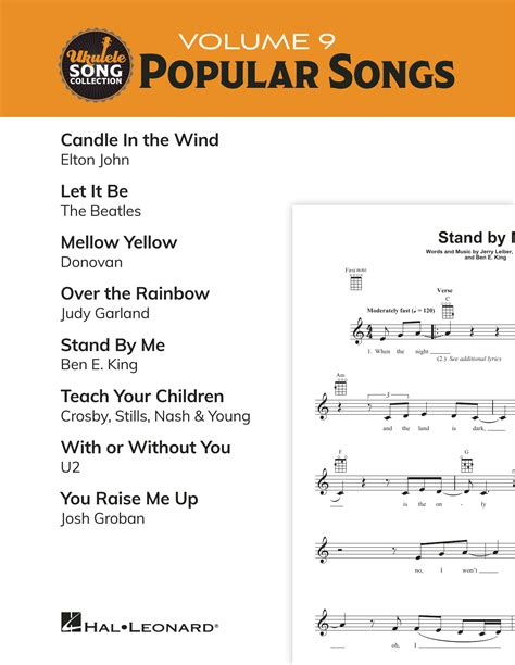 The reason that the ukulele is so popular is that it is one of the easiest instruments to learn how to play. Ukulele Song Collection, Volume 9: Popular Songs Sheet Music   Various   Ukulele Collection