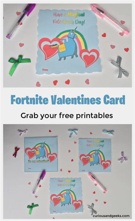 Fortnite Valentines day cards with free printable ...