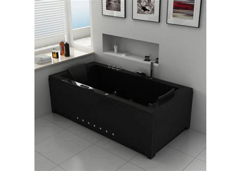 Baignoire Balnéo Rectangulaire  London Black