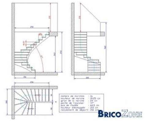 mesure escalier demi tournant