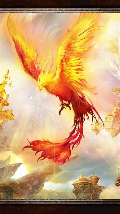 Phoenix Bird Iphone Wallpapers Vector Pixel Backgrounds
