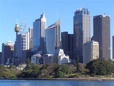 sydney city skyline australia stock photo