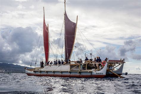 double hulled voyaging canoe   comeback sail