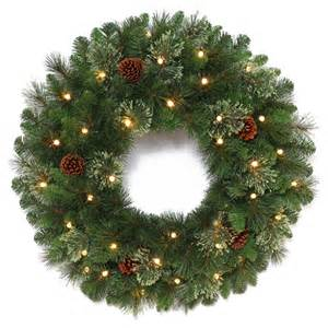 Outdoor Christmas Wreaths with LED Lights