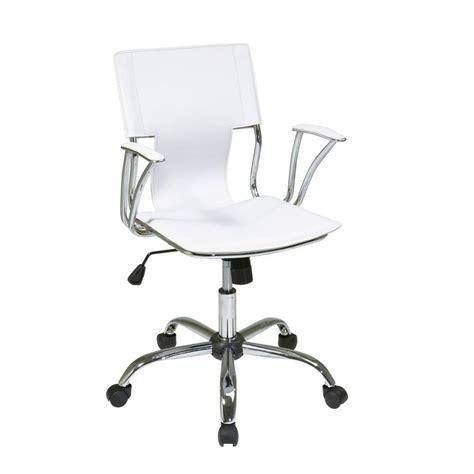 ave six dorado white vinyl office chair dor26 wh the