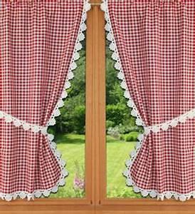 Rideaux Bonne Femme : rideaux bonne femme vichy rouge ~ Teatrodelosmanantiales.com Idées de Décoration