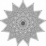 Geometric Coloring Pages Printable Patterns Shapes Designs Adult Pattern Colouring Simple Mandala Cool Adults Geometry Abstract Colour Books Star Detailed sketch template