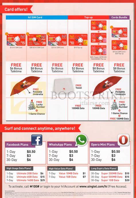singtel mobile prepaid sim card top  card facebook