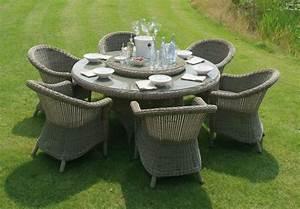 Table De Jardin Tressé : salon de jardin table ronde resine n15 ~ Nature-et-papiers.com Idées de Décoration