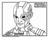 Nebula Avengers Endgame Draw Drawing Coloring Too Colouring Drawittoo Tutorial sketch template