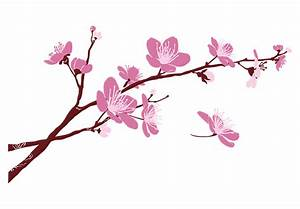 Cherry Blossom Branch 02 Wall Decal - beautiful floral