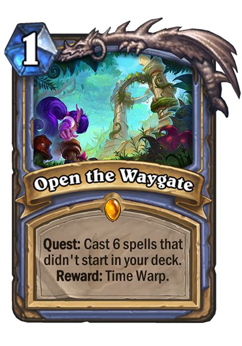 Warlock Deck Hearthstone Ungoro by Open The Waygate Hearthstone Card
