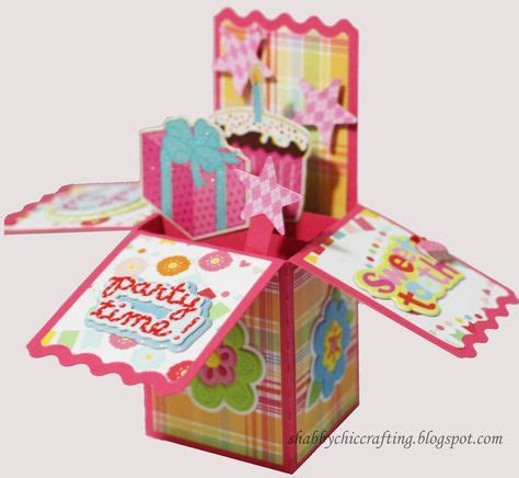 birthday box card  images card box pop  box