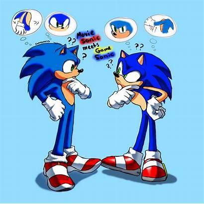 Sonic Meets Movie Cartoon