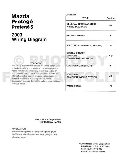 2003 mazda protege5 wiring diagram 34 wiring diagram