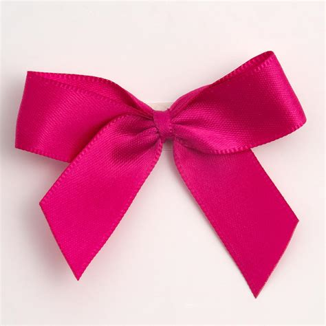 hot pink self adhesive satin ribbon satin bows favour this