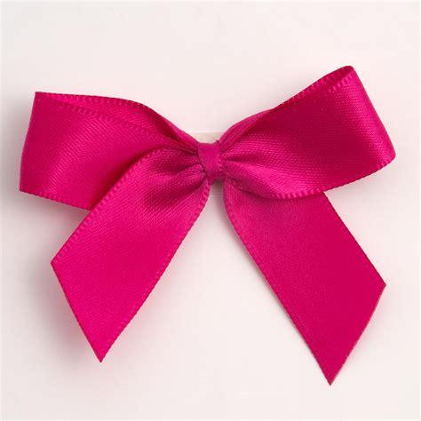 ribbon bow hot pink self adhesive satin ribbon satin bows favour this