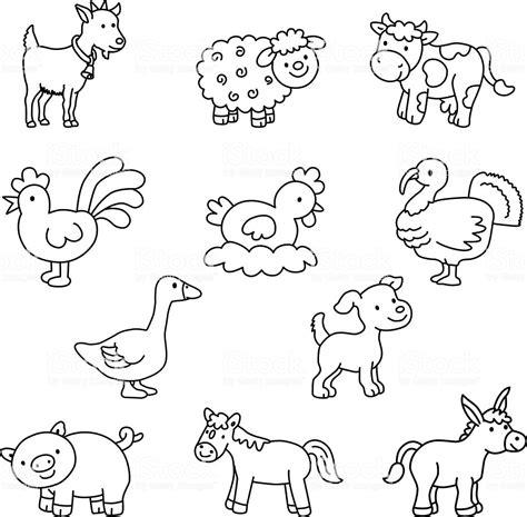 set  domestic animals vector stock vector art