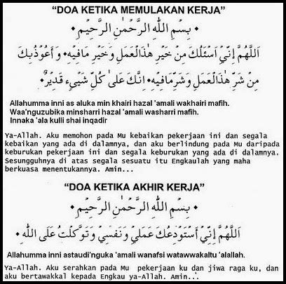 doa sebelum memulakan kerja sharing  ceritera
