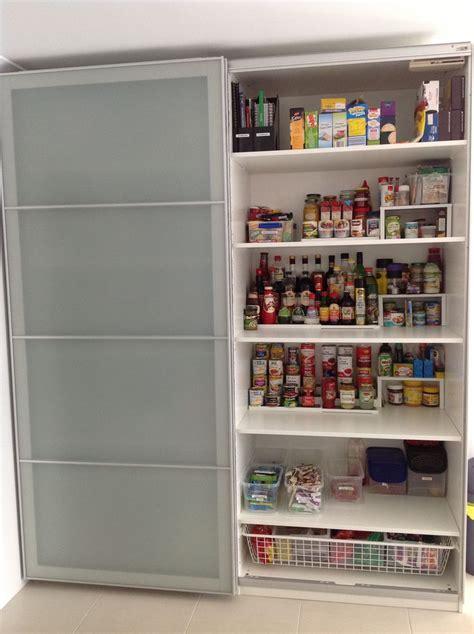 ikea pax wardrobe used as a kitchen pantry ikea hacks