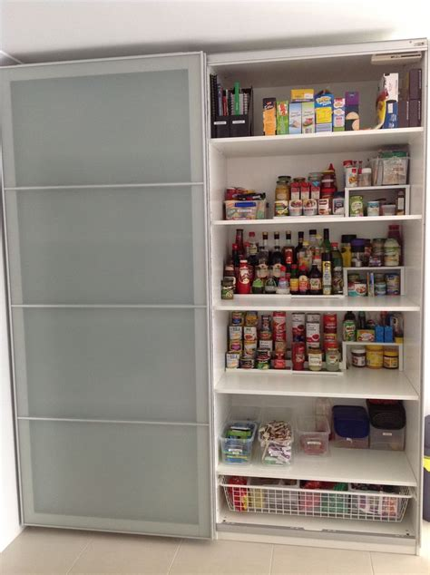 Ikea Pax Wardrobe used as a kitchen pantry, but I'd