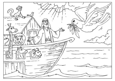 coloring page noahs ark  printable coloring pages