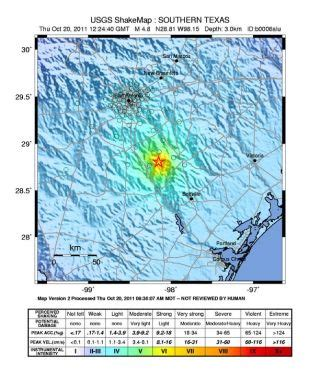 trio   quakes includes largest  recorded  texas