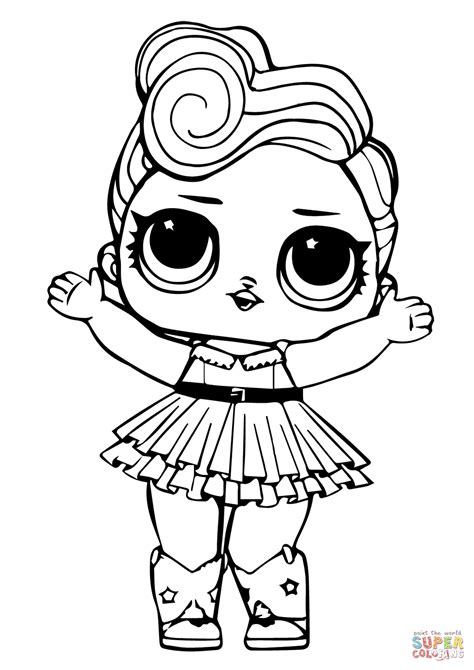 Coloring Lol Dolls by Lol Doll Luxe Coloring Page Free Printable Coloring Pages