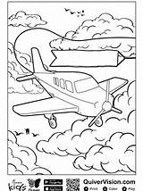 Quiver Coloring Pages Fun Plane sketch template