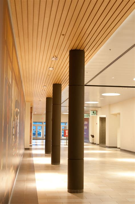 ce center designing with metal ceilings