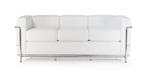 canapé lc2 le corbusier lc2 three seater sofa by le corbusier