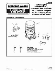 System Saver 1200 Installation Instructions
