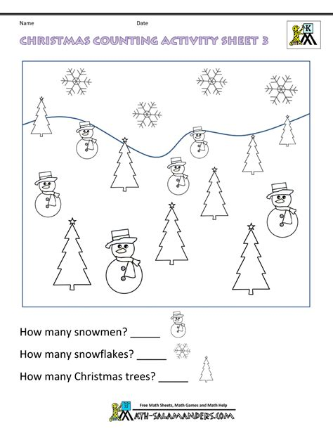 HD wallpapers christmas math worksheets Page 2