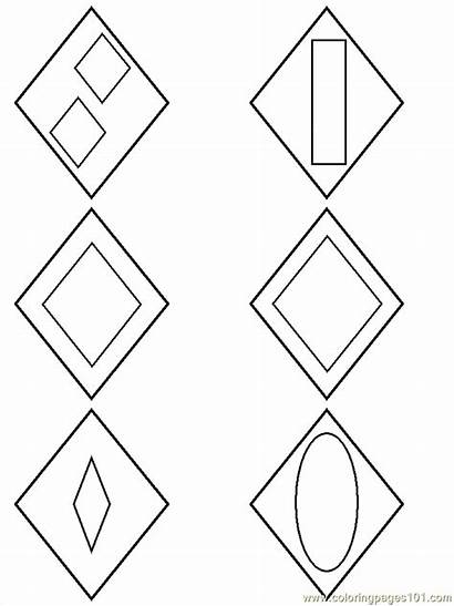 Diamond Shapes Preschool Shape Coloring Popular Colouring