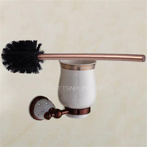 gold bathroom rugs luxury gold toilet brush holder