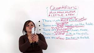 """Quantifiers In English: """"MUCH, MANY, A LOT OF, A LITTLE, A ..."""