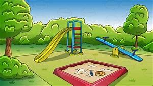 Cartoon Clipart: An Outdoor Playground Background