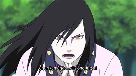 orochimaru young shuriken shadow clone jutsu shuriken kage