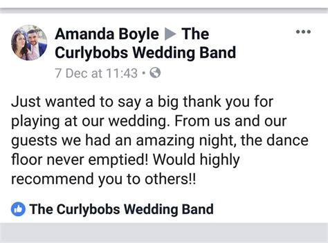 curlybobs wedding band home facebook