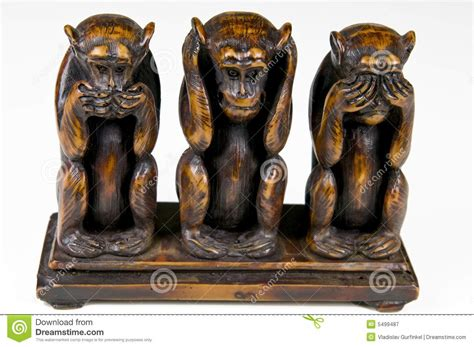 three monkeys stock of background 5499487